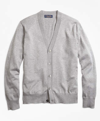 Brooks Brothers Supima Cotton V-Neck Cardigan