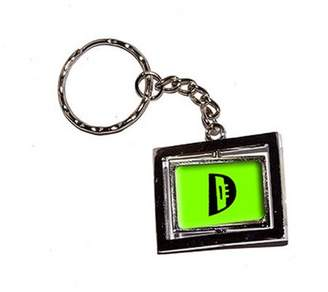 Generic Letter D Initial Lime Green New Keychain Ring