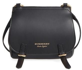 Burberry Bridle Leather Shoulder Bag - Black $895 thestylecure.com