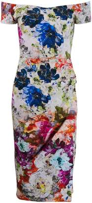 Chiara Boni Le Petite Robe Di floral print fitted dress