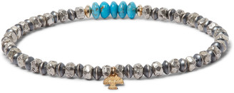 Peyote Bird Turquoise, Sterling Silver And 14-Karat Gold-Filled Bracelet