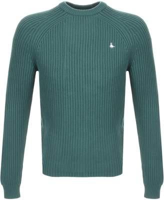 Jack Wills Hammond Knit Crew Jumper Green