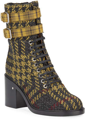 Laurence Dacade Pilar Lace-Up Tartan Belted Boots
