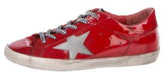 Golden Goose Superstar Patent Leather Sneakers