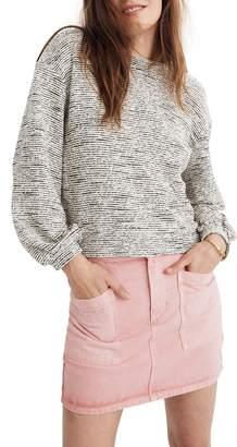 Madewell Texture & Thread Bubble Sleeve Sweatshirt