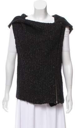 Helmut Lang Rib Knit Hooded Vest