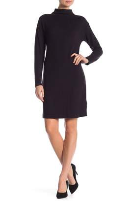Joe Fresh Hacci Mock Neck Long Sleeve Sweater Dress