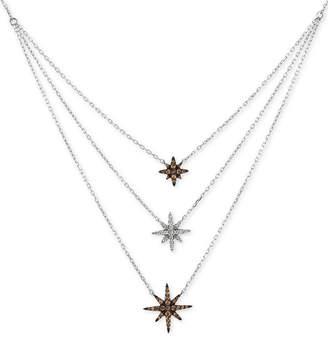 LeVian Le Vian Chocolatier Diamond Layer Statement Necklace (1/3 ct. t.w.) in 14k White Gold