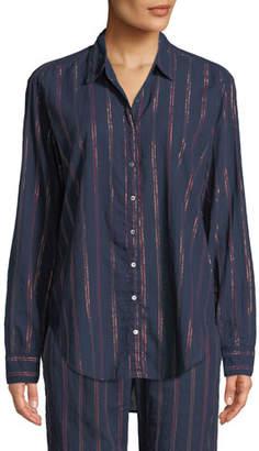 Xirena Beau Beckett Striped Lounge Shirt