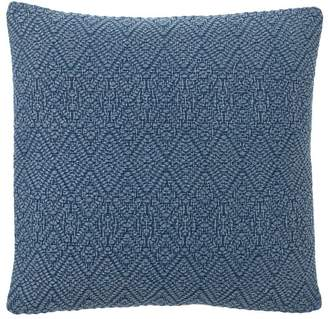 Pottery Barn Washed Diamond Pillow Cover - Sailor Blue