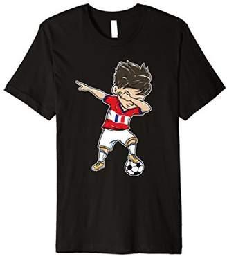 Dabbing Soccer Player Funny France Fan T-Shirt boy