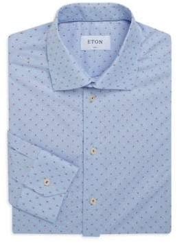 Eton Slim-Fit Printed Cotton Dress Shirt