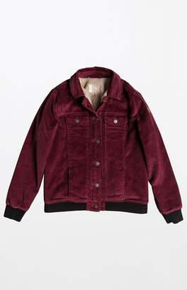 Roxy Sherpa Lined Corduroy Jacket