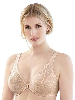 Glamorise Women's Full Figure Wonderwire Front Close Stretch Lace Bra