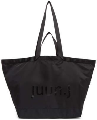 Juun.J Black Large Logo Tote