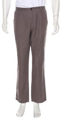 Michael Kors Flat Front Linen Pants