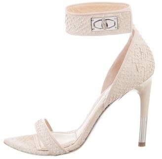 Givenchy Python Ankle Strap Sandals