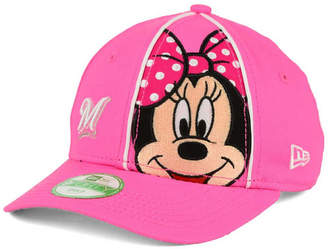 New Era Girls' Milwaukee Brewers Face-Front Minnie 9FORTY Cap