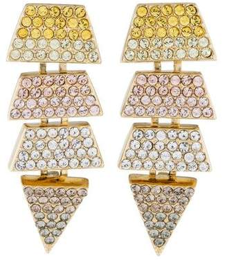 Eddie Borgo Crystal Pavé Scaled Triangle Drop Earrings