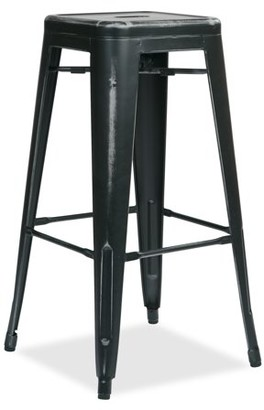 """Office Star OSP Designs by Products Bristow 30"""" Antique Metal Barstool, Antique Black, 4-Pack"""