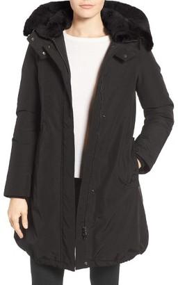 Women's Woolrich 'Bow Bridge' Genuine Rabbit Fur Trim Down Parka $850 thestylecure.com