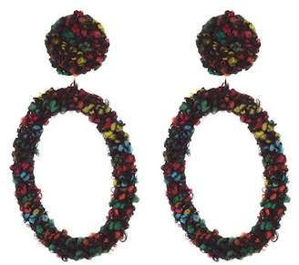 Cara Accessories Boucle Oval Dangle Earrings