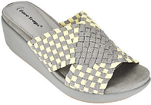 BareTraps Woven Fabric Wedge Sandals - Ellsa $56.75 thestylecure.com