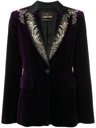 Roberto Cavalli embroidered velvet blazer