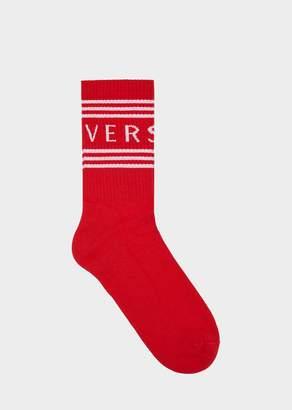 Versace 1990s' vintage logo socks