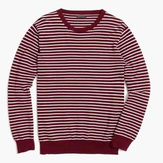 J.Crew Factory Cotton piqué crewneck sweater in stripe
