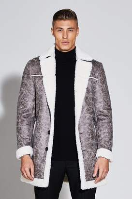 boohoo Premium Faux Leather Borg Lined Jacket