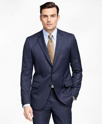 Brooks Brothers Fitzgerald Fit Tic with Stripe 1818 Suit
