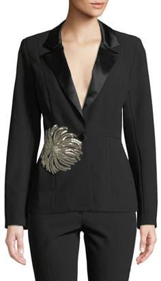 Iman Mestiza New York Tuxedo Jacket w/ Embellishment