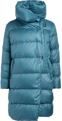 Puffa Bacon Clothing Bacon Big Light-blue Fabric Long Down Jacket.