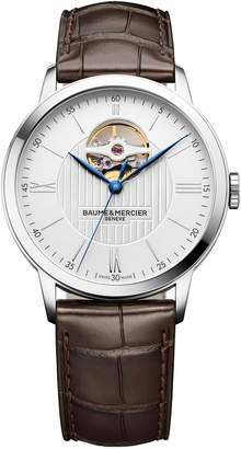 Baume & Mercier Mechanical Leather Strap Watch, 40mm