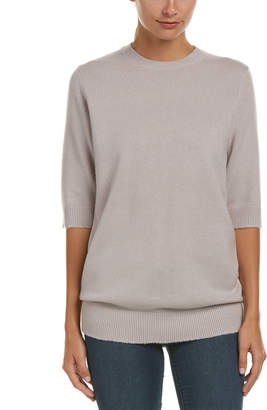 Vince Elbow-Sleeve Cashmere Sweater