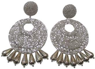 Kenneth Jay Lane tone Gypsy Beaded Drop Pierced Earrings