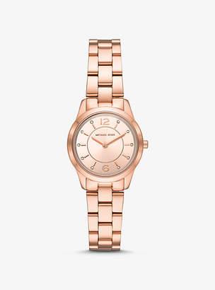 Michael Kors Petite Runway Rose Gold-Tone Watch