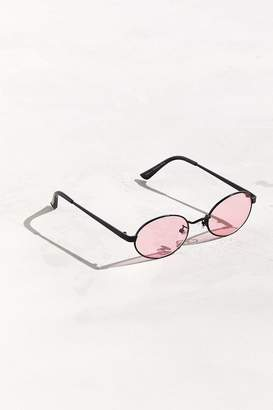 Urban Outfitters Small Metal Oval Sunglasses