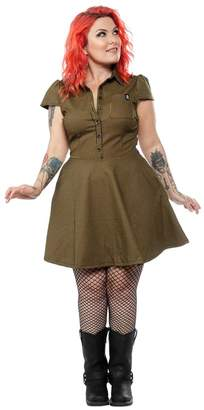 Sourpuss Check Button-Down Dress