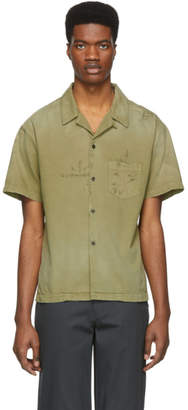 John Elliott Green Petrol Bowling Short Sleeve Shirt