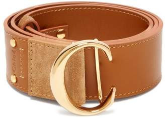 Chloé Monogram Buckle Leather Belt - Womens - Yellow