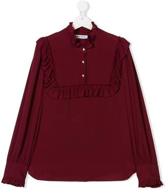 Dondup Kids TEEN ruffle trim blouse