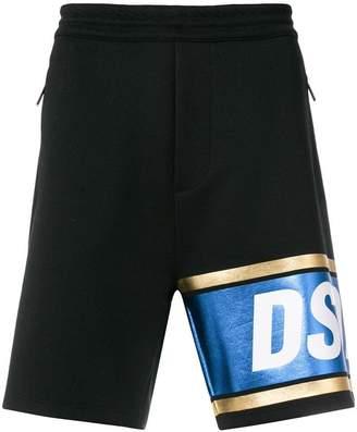 DSQUARED2 logo stripe shorts