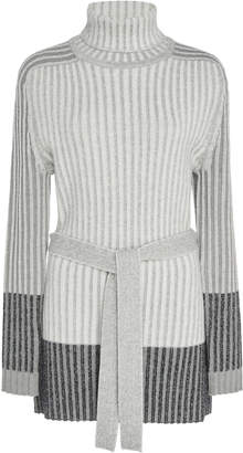 Tome Turtleneck Ribbed Tunic Top