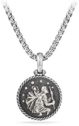David Yurman St. Christopher Diamond Amulet