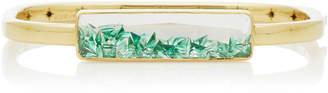 Moritz Glik 18K Gold Emerald Cuff Bracelet