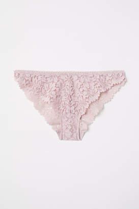H&M Lace Bikini Briefs - Pink