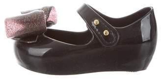 Mini Melissa Girls' Glitter-Accented Mary Jane Flats w/ Tags