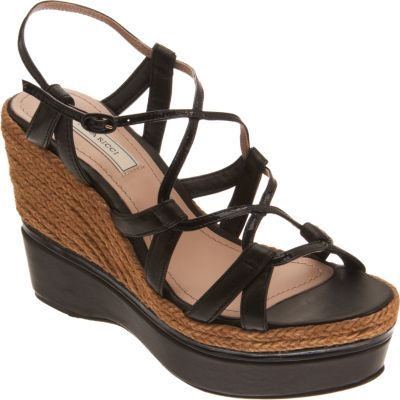Nina Ricci Layered Espadrille Wedge